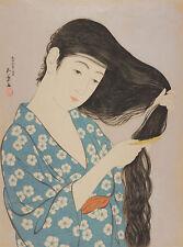 """Hashiguchi Goyo : """"Woman Combing Her Hair"""" (1920) — Giclee Fine Art Print"""