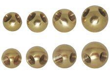 Ø 15 mm 15mm Messing-Kugel Messingkugel mit Sackloch-Gewinde M6