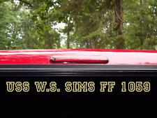USS W S SIMS FF 1059 DE 1059 Decal U S NAVY USN Military
