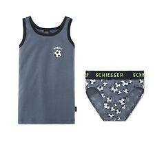 Schiesser Set Garnitur Unterhose Slip Unterhemd Jungen Fußball Unterwäsche NEU