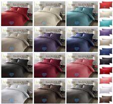 300TC Duvet Quilt Cover Bedding Set - 100% PURE COTTON SATEEN STRIPE - ALL SIZES