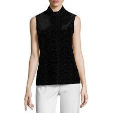 Liz Claiborne Sleeveless Turtleneck T-Shirt Size M, L, XL Black New