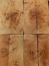 English Yew Bookmatched couteau échelle//Poignée de Couteau Set