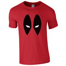 Deadpool T-Shirt - Marvel Inspired Comics Eyes Face Kids & Mens Unisex Fan Top