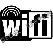 Wifi Spot Radiowaves Style B Logo Vinyl Sticker Decal - Choose Size & Color