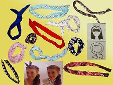 Haarband mit Draht Polkadots Rockabilly Tuch fürs Haar Hals biegbar Haarschmuck