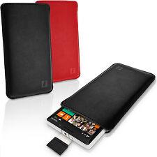 Pelle Custodia Case Tasca Sulla Manica Per Nokia Lumia 930 Linguetta SLIM COVER Pelle
