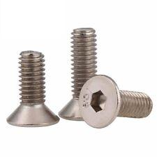 10.9 Grade Ni Plated - Flat Head Socket Cap Screws Allen Key Bolts - M2.5 M3
