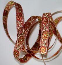 "JASDEE Vintage Jacquard Border Trim Ribbon 1/2"" Width Embriodery Work # R1313"