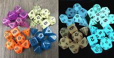 7pc Set Luminoso Dungeons Dragons DADI D4/6/8/10/12 // 20 Giochi Regalo Festa