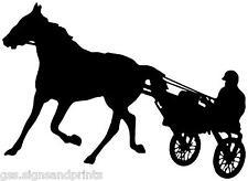 440X260MM TROTTER, HORSE & CART VINYL STICKER (MULTI COLOURS)