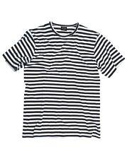 Russ Marine T-Shirt halbarm Shirt Marinehemd Matrosenhemd Baumwolle blau weiß