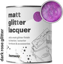 Hemway Dark Rose Glitter Matt Varnish Lacquer Interior Exterior Protective