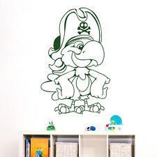 10640 Wandtattoo Loft Wandaufkleber Papagei Pirat Totenkopf Vogel Kinderzimmer