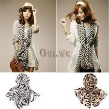 Korea Korean Style Classical Zebra Heart Round Print Chiffon Scarf shawl Wrap