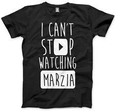 No puedo dejar de ver Marzia-vlogger Star youtubers T-Shirt Varios Tamaños