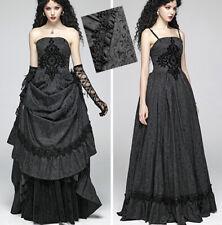 Robe bal mariée jacquard gothique victorien baroque volants corset PunkRave 2en1