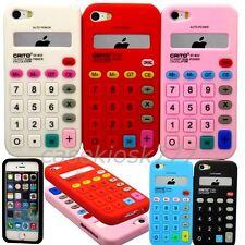 for iphone 5 5s soft tpu calculator design case skin white blue red black pink