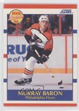 1990-91 Score #399 Murray Baron Philadelphia Flyers Rookie Hockey Card