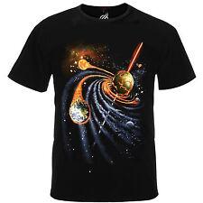 Galactic Spiral Quasar Meteor Earth Aflame Deep Space Tshirt Tee Shirt Top RM04T