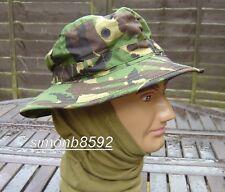 UK BRITISH ARMY SURPLUS WOODLAND DPM BUSH HAT,BRIMMED CAMO BOONIE HAT,G1 & G2