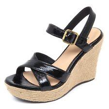 D2146 sandalo donna UGG W JACKILYN scarpe zeppa nero shoe woman