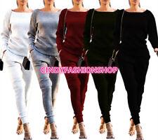 New Women Winter Two Piece Set Bodysuit Long Pants Casual Jumpsuit Rompers