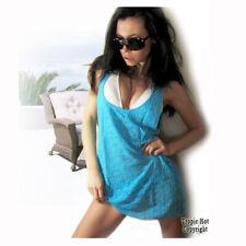 "NEW! ""Victoria's Secret"" Sexy, Crochet Sheer Blue Cover Up Beach / Mini Sundress"