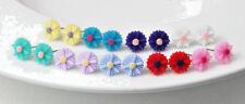 Lovely Resin Flower Fashion Ladies Womens Childrens Stud Earrings 9 Colours UK