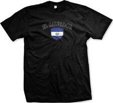 El Salvador Flag Crest National Soccer Bandera Football Pride Mens T-shirt