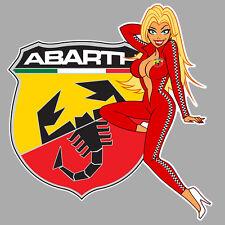ABARTH left Pin up gauche Sticker  °