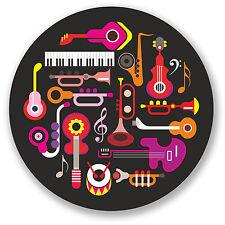 2 X Music pegatina de vinilo Ipad Laptop coche instrumentos de guitarra Kids Diversión calcomanía # 4472