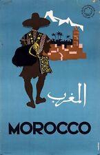 Vintage Moroccan Tourism Poster A3 Print