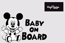 Baby a bordo topolino bambino Finestra Paraurti Auto Adesivo Decalcomania Segno