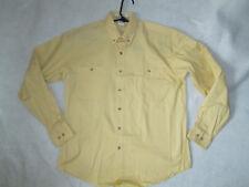 Mens boys Shirt dress oxford long sleeve  small 14 32 medium 15 32  yellow NEW