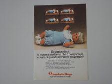 advertising Pubblicità 1974 BAMBOLA FURGA AMBROGINA