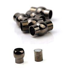 Black Barrel Plug-in-Magnetic Clasps 6mm or 7mm Internal Diameter UK
