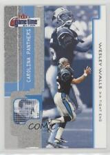 2001 Fleer Game Time Extra #66 Wesley Walls Carolina Panthers Football Card