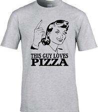Pizza Hommes T-shirt Foodie Italien Cerf faire Pub Food Eat drôle anniversaire