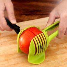 Tomato Slicer Holder Potato Egg Onion Fruit Vegetable Cutter Kitchen Utensil BS