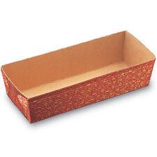 Rectangular Leaf Paper Loaf Baking Pan, 4.4 Oz Capacity, 4.2 x 1.2 x 1.3 Inch