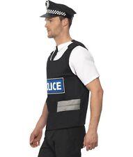 Policía Fancy Dress Costume Kit Chaleco/Camisa Sombrero & esposas de policía por Smiffys