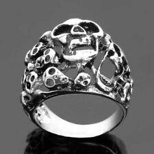 Edelstahl- Ring, Totenkopf, Scream, Skull, Biker, Gothic