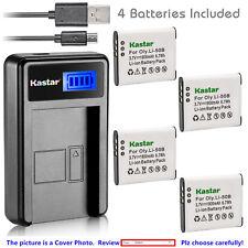 Kastar Battery LCD Charger for Olympus Li-50B & SZ-11 SZ-12 SZ-14 SZ-15 SZ-16