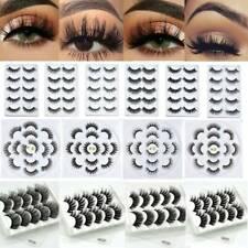 5 Pairs 100% Real 3D Mink Makeup Cross False Eyelashes Handmade Eyelashes Thick~
