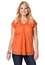 Longshirt - Gr. 40 42 44 46 48 50 52 54 56 58 - orange - Bluse - Tunika - Sheego