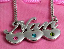 Grandma Gift - NAN Necklace 18K Gold Plated Heart High Quality Nanny