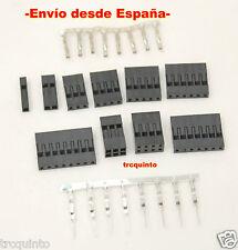 Conector tipo Dupont (2P 3P 4P 5P 6P 7P 8P) crimpar o soldar,  electronica