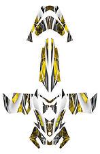 Ski-doo Rev XP 2008 2012 Snowmobile Graphics Wrap #3333BWY Yellow White