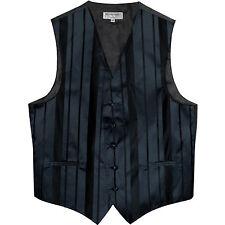 New Man Tuxedo Waistcoat Navy Blue Vest only Formal Wedding vertical stripes